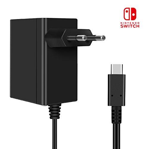 KINGTOP 15V 2.6A Caricatore Nintendo Switch Alimentatore USB Tipo-C Adattatore Carica Rapida Per Switch Nintendo Supporta la modalità TV e la Docking Statio
