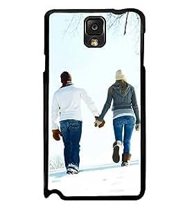 PrintVisa Designer Back Case Cover for Samsung Galaxy Note 3 :: Samsung Galaxy Note Iii :: Samsung Galaxy Note 3 N9002 :: Samsung Galaxy Note 3 N9000 N9005 (Cute Couple Snow Mountain Winter)