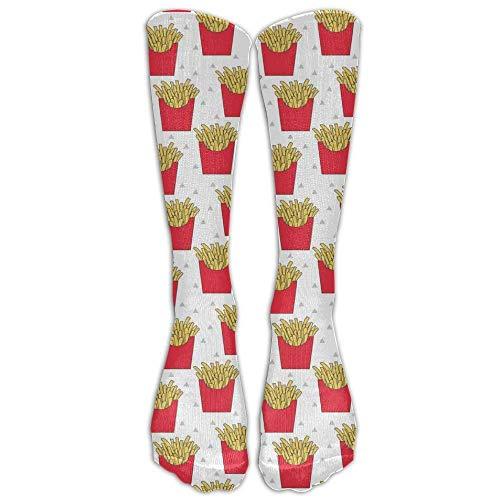 French Fries Athletic Tube Stockings Women's Men's Classics Knee High Socks Sport Long Sock One Size