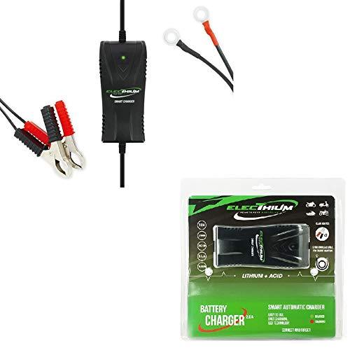 Les Colis Noirs LCN - Chargeur de Batterie Lithium Plomb Acide 100-240V 50/60Hz - Moto Scooter - 300