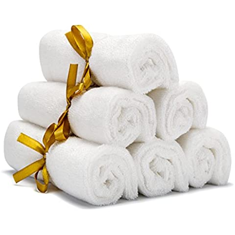 Baby washcloths (Set of 6), 100% Organic Bamboo Bath Towels for Baby, 10x 10Inches, Mom' s # 1Choice, Perfect for Sensitive Skin