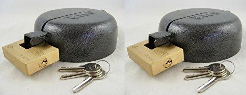 Kit antirrobo(2 unidades), tapa antirrobo de metal para depósito de combustible, con cierre y tres llaves para camión