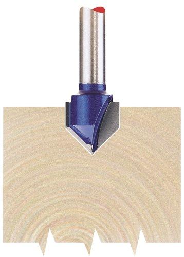 Draper 75336 1/4-inch Groove 12.7mm x 90 Degree Tungsten Carbide Tip Router Bit