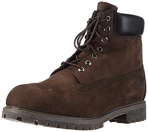 Timberland 6in premium boot, Boots homme, Marron (Dark Chocolate Nubuck), 42 EU