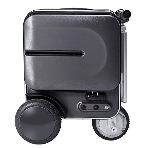 LXWEH Wasserdichtes Intelligentes Handgepäck, Unisexreisewagen-Leichtgewichtler BaggageTSA-Passwort-Verschluss-Gepäck ABS Hartschalengepäck-Koffer Einfaches Auto Mit USB-Fall (Color : Schwarz) -