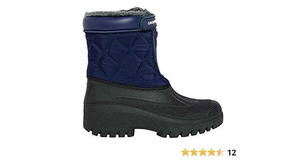 Unisex Waterproof Calf Wellies for Equestrian Walking Diamond Stitch Thermal Muddies Mucker Boot