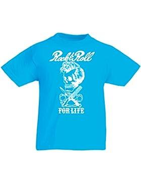 Camiseta Niños/Niñas Rock and Roll for Life - 1960s, 1970s, 1980s - Banda de Rock Vintage - Musicalmente - Vestimenta...