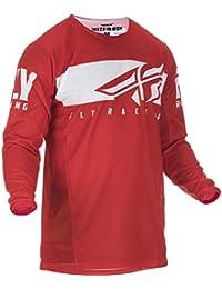 Fly Racing Camiseta De MX Niño 2019 Kinetic Shield Rojo-Blanco (M Niño 3422ca7d8e456
