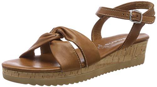 Tamaris 1-1-28225-22, Sandali con Cinturino alla Caviglia Donna, Beige (Cuoio 455), 37 EU