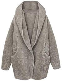 Weimilon Abrigos Chaqueta es Anchos Elegantes con Mujer Otoño Joven Capucha  Invierno Suave Outwear Caliente Jacket Cazadoras Prendas… f9ec53eacf8f