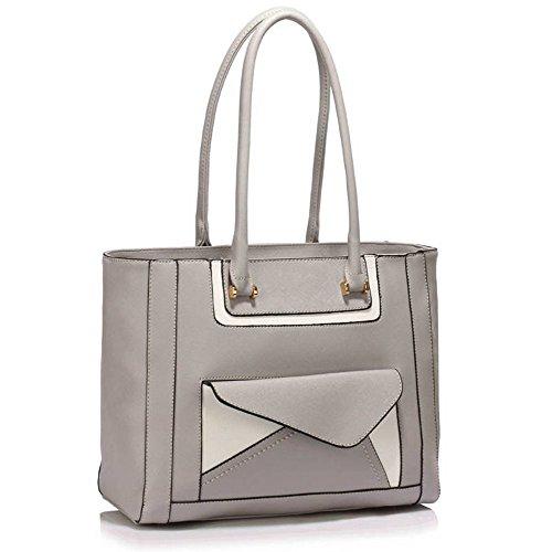 TrendStar Damen-Modedesigner -Qualität Taschen Frauen Trendy Hot Selling Handtaschen Große Schultertasche . Grau