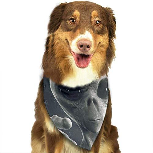 Gxdchfj Alien Fashion Dog Bandana Pet Accessories Easy Wash Scarf