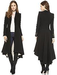 mioim Femme Manteau office long Chic printemps Automne Veste manches  longues Blouse Long Blouson Mode Élégant 52f2a6ee7721