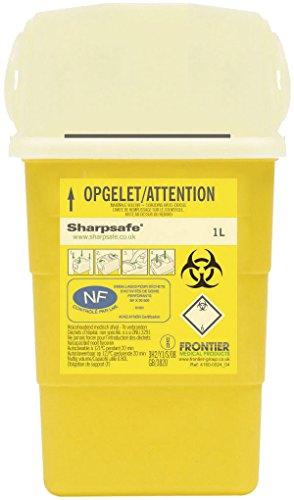 Sharpsafe Behälter für fhshar32Collector Praxis Nadel, 1l Fassungsvermögen, 180mm Höhe x 108mm Länge x 90mm Breite, Gelb (100Stück)