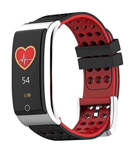 UNOKS Color Screen Smart Bracelet ECG Heart Rate Rate Blood Pressure Monitoring Movement Step Waterproof,Red