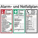 Schild PVC Alarm- und Notfallplan ISO 7010 48x62 cm