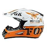 Herren Off-Road Vollvisiermotorradhelm, winddichter Motorradhelm für Jugendliche, personalisierte Mustersicherheitskappen 53-61cm