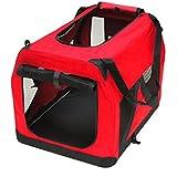 DEMA Hundebox Katzenbox rot 70x52x52cm faltbar