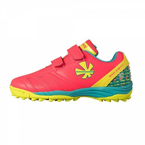 Reece Bully X80 Outdoor Hockey Schuhe mit Klettverschluss pink-blau-gelb Kinder pink-blau-gelb, 31