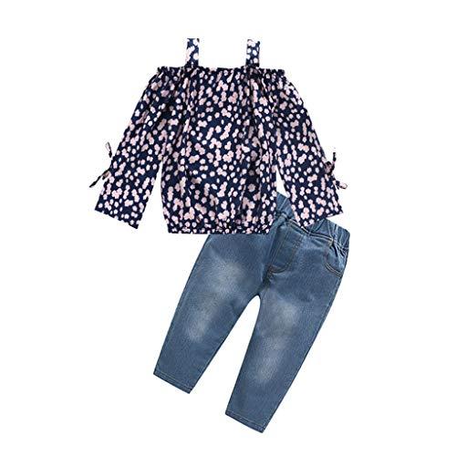 Robe de Filles,Toddler Kids VêTements De BéBé Fille VêTements Floral T-Shirt Tops + Jeans Pantalon Jeans SetPrincesse Bowknot Dentelle Demoiselle d'honneur DaySing