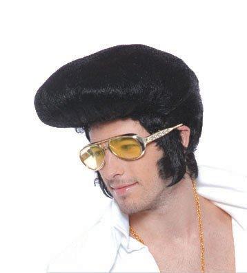 (Seiler24 Schwarze Elvis Herren Perücke)