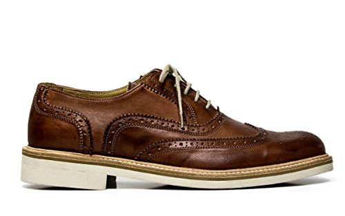 EXTON uomo scarpe eleganti stringate 9192 DELAVE' marrone