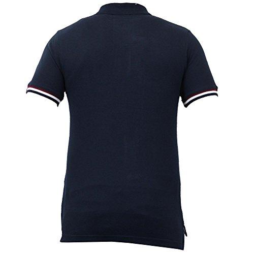 Polo Da Uomo Tessuto Pique Maniche Corte T-shirt By Tokyo Laundry Blu scuro - 1X7618