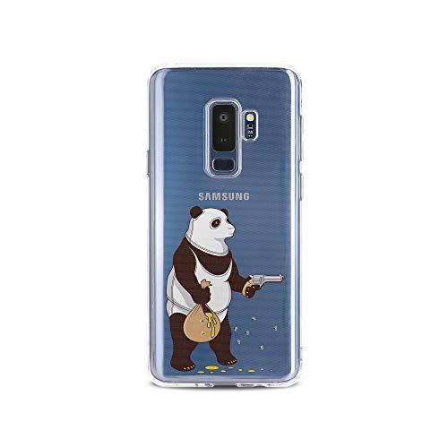 licaso S9 Plus S9+ Handyhülle TPU mit Panda klaut Honig Print Motiv - Transparent Cover Schutz Hülle Aufdruck Lustig Funny ()