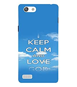 A2ZXSERIES Keep Calm Quotes Back Case Cover for Oppo Neo 7 A33