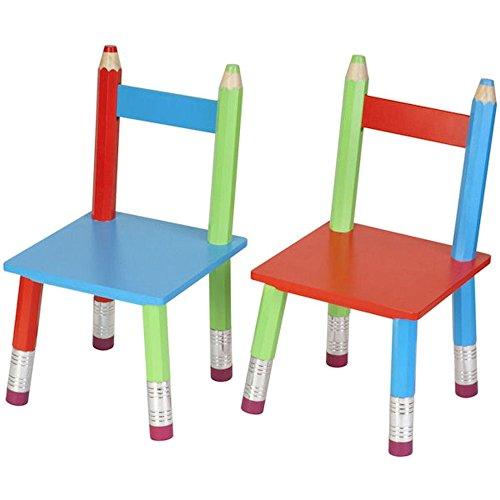 La Chaise Longue 32-e1-007 Stühle für Kinder in Buntstiftform, 2 Stück