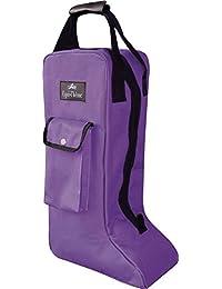 Equi-Theme bolsa para botas, Violet Black Piping