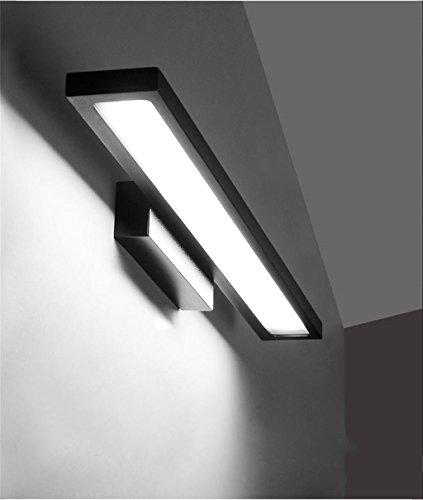 Wasserdichtes Anti-Nebel-LED-warmes weißes Spiegel-Frontlicht-Make-up, das Lampen-Badezimmer-Wand mit justierbarem Winkel des Schalters beleuchtet (Farbe : A-12W - Wand Beleuchtete Make-up-spiegel