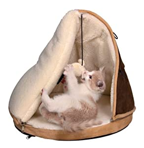 Trixie Shani cuddly tepee, ø 45 × 50 cm, brown-beige/cream by Trixie