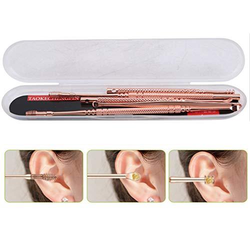 Pinhan 6 Stücke Professionelle Edelstahl Spirale Ohr Pick Löffel Ohrenschmalz Entfernung Reiniger Ohrpflege Schönheit Werkzeuge für Den Heimgebrauch -