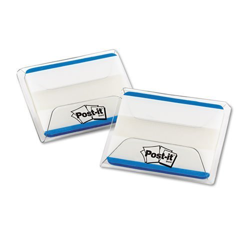 Durable File Tabs, 2 x 1 1/2, Striped, Blue, 50/Pack by Post-it?? Tabs