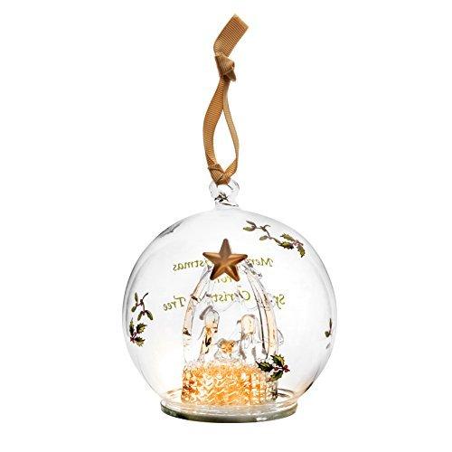 Spode Christmas Tree Ornament, Glass Manger by Spode Spode Christmas Tree Glass