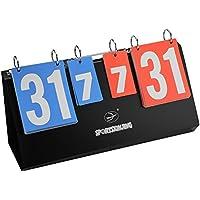 Dioche Tabellone Segnapunti, Portatile da Competizione Sportiva Scoreboard 4 cifre Segnapunti per Pallacanestro Pallavolo Tavolo Tennis