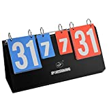 Dilwe Dilwe Sport Anzeigetafel, Tragbare Wasserdichte Tischplatte Punktzahl Flipper für Basketball Tennis Training