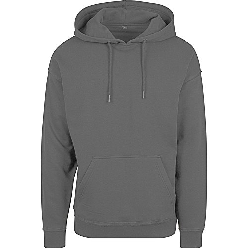 Build Your Brand Herren Oversize Kapuzenpullover (XL) (Anthrazit)