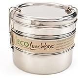 ECOlunchbox Tri Bento, 3-teilige Runddose aus Edelstahl