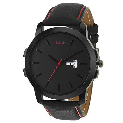 Relish Analogue Black Dial Men\'s & Boy\'s Watch (RE-BR971DD)