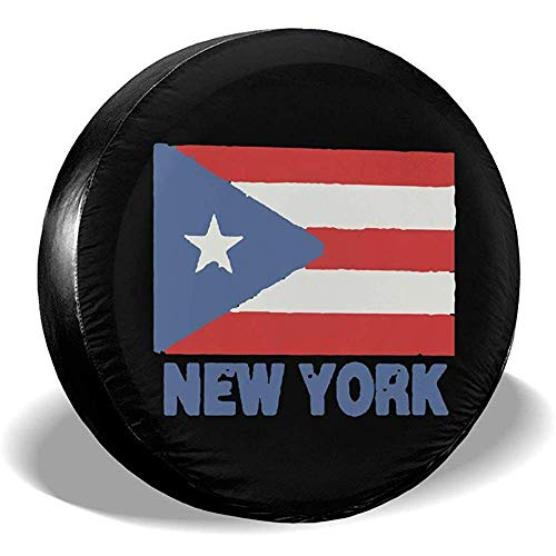 Spare Tire Cover-New York Puerto Rico Flagge Reifen Abdeckung Fit Jeep Trailer SUV Ect