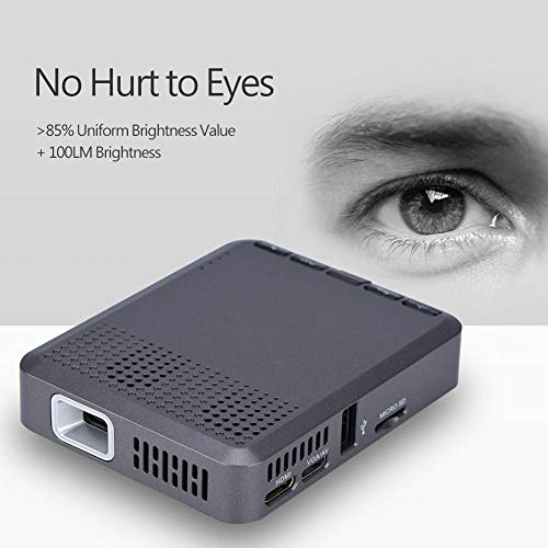 Mini Micro Projector Video DLP Home Cinema Pocket Projector 1000 1 Contrast Ratio 100LM with Optical Trapezium Adjustment 16 10 16 9 4 3 Screen Support USB  TF card  HDMI  Bluetooth  2 4G 5G WiFi 8g