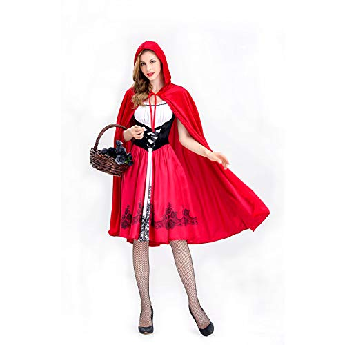HINATAA Little Red Riding Hood Kostüm Castle Queen Kostüm Cosplay Halloween Uniform Cosplay Kostüm für Erwachsene