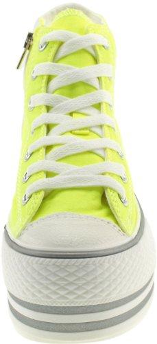 Maxstar C50 7 trous avec fermeture Éclair haute et plateforme Baskets chaussures Vert - Vert flup