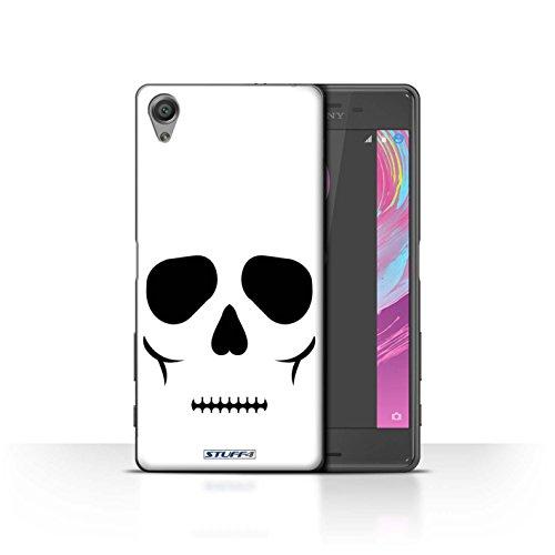 (Stuff4® Hülle/Case für Sony Xperia X Performance/Schädel Muster/Halloween Zeichen Kollektion)