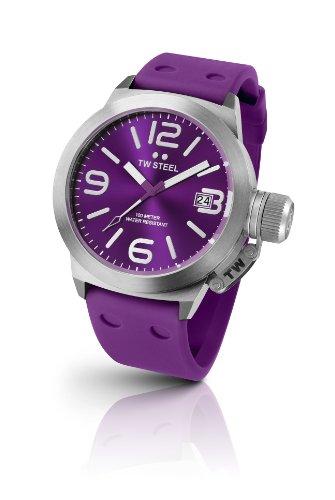 TW Steel - TW-515 - Montre Femme - Quartz Analogique - Bracelet Caoutchouc Violet