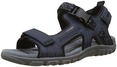 Geox Uomo Sandal Strada A, Sandalia con Pulsera para Hombre, Azul Navy, 42 EU