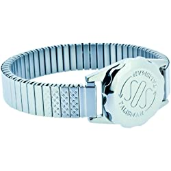 Stainless Steel SOS Talisman Watch Style Ladies Expandable 12mm