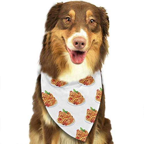 Sdltkhy Spaghetti Italian Food Pet Dog Cat Bandanas Triangle Bibs Pet Scarf Dog Neckerchief Headkerchief Pet Accessories (Wie Man Spaghetti)